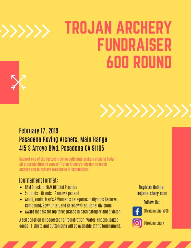 trojan archery 600 round fundraiser
